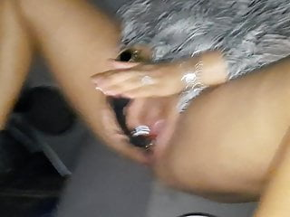 Play in the car with dildo