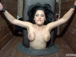 Czech Fantasy Gloryhole Fuck Session with Alex Black