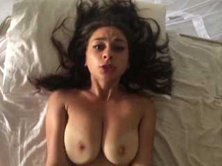 BEAUTIFUL SEXY LATINA TEEN GOT DICK IN HER LITTLE MOUTH AND TIGHT PUSSY