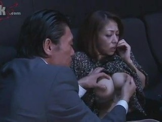 Japanese Milf  Groped in the cinema by a starnger