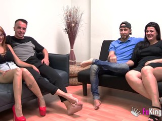 Two kinky couples having a forusome - Fede Row & Maria Bose