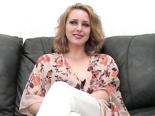 Pretty Blonde Stripper first Time Anal on Casting Couch