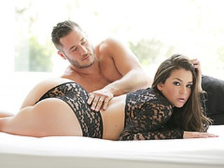 Beautiful Allie Haze moans as she gets fucked passionately by her man
