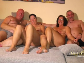 Old German Couples private Fuck Party
