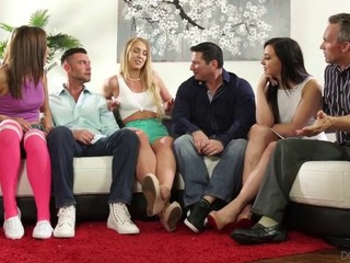 FULL SCENE! Devils Film - Neighborhood Swingers Party Gets WILD!