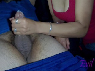 Horny Latina Jerks Cum out of Strangers Dick in Car